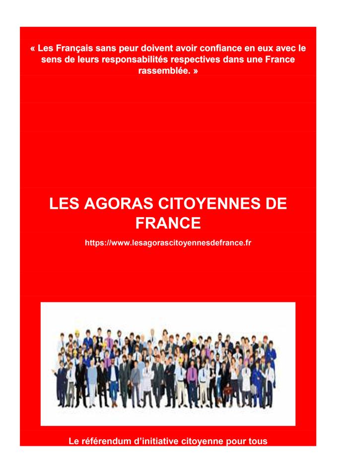 Découvrez le livre des Agoras Citoyennes de France